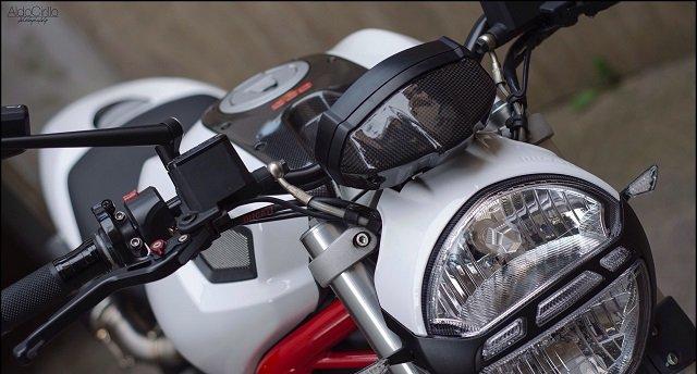 Copri Strumentazione Carbonio Ducati Monster 696 796 1100 Cover